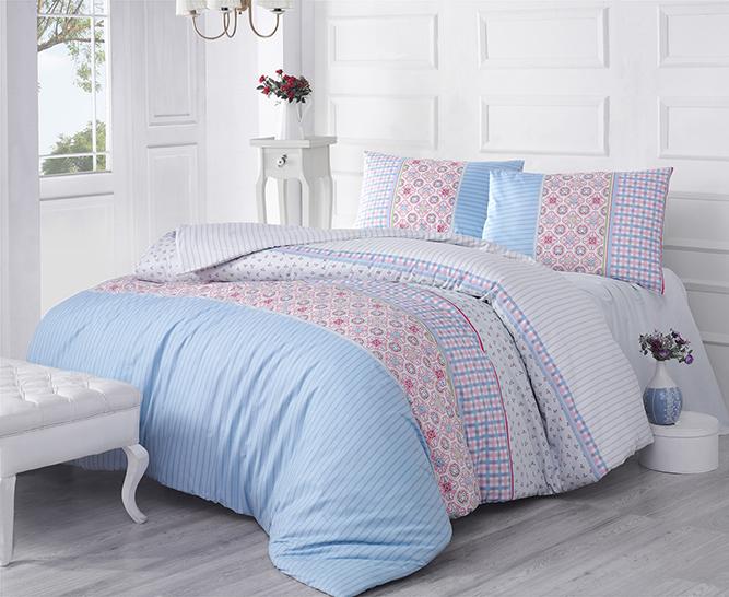 Комплект белья Altinbasak Espinela, 2-спальный, наволочки 50х70, цвет: голубой297/43/CHAR001