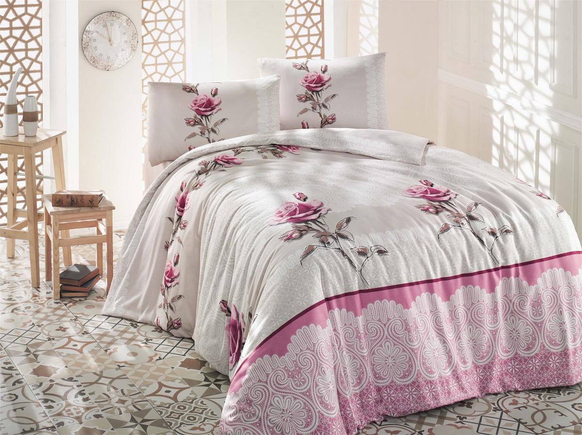 Комплект белья Altinbasak Almila, 2-спальный, наволочки 50х70, цвет: бежевый297/4/CHAR001