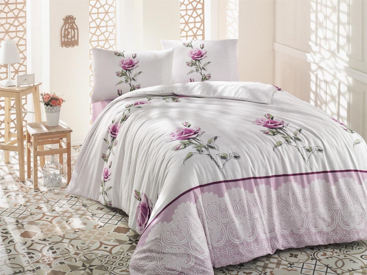 Комплект белья Altinbasak Almila, 2-спальный, наволочки 50х70, цвет: розовый297/4/CHAR002