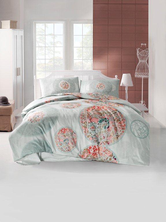 Комплект белья Altinbasak Izem, 2-спальный, наволочки 50х70, цвет: голубой297/50/CHAR001
