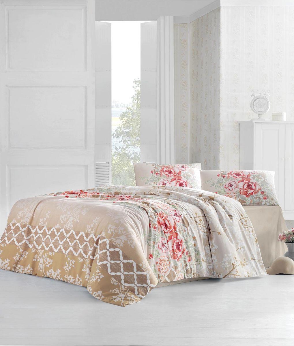 Комплект белья Altinbasak Asel, 2-спальный, наволочки 50х70, цвет: бежевый297/6/CHAR001
