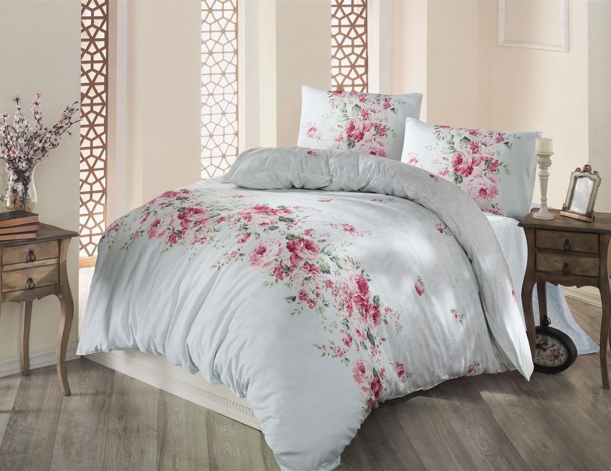 Комплект белья Altinbasak Belissa, 2-спальный, наволочки 50х70, цвет: ментол297/8/CHAR003