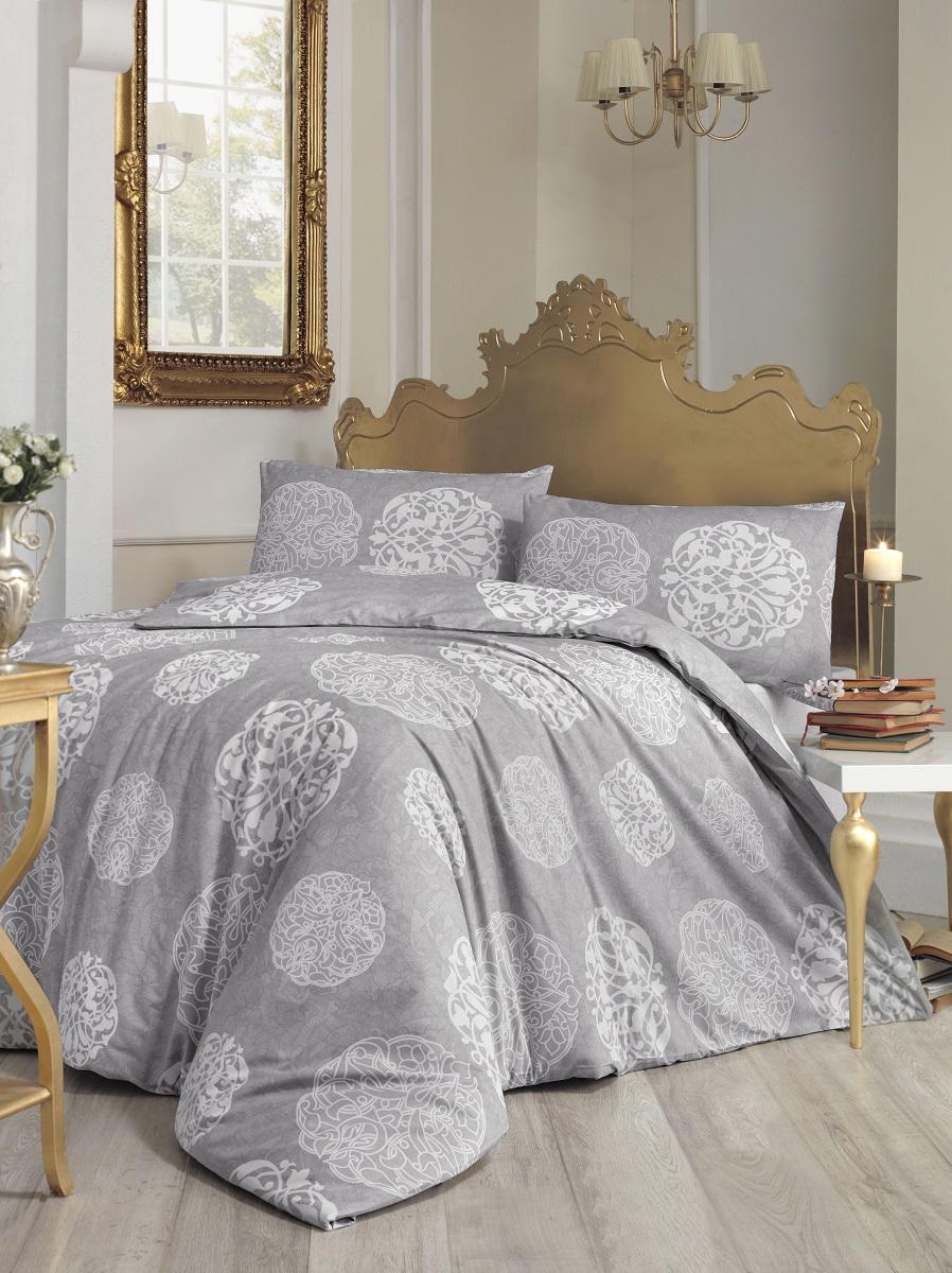 Комплект белья Altinbasak Bello, 2-спальный, наволочки 50х70, цвет: серый297/9/CHAR002