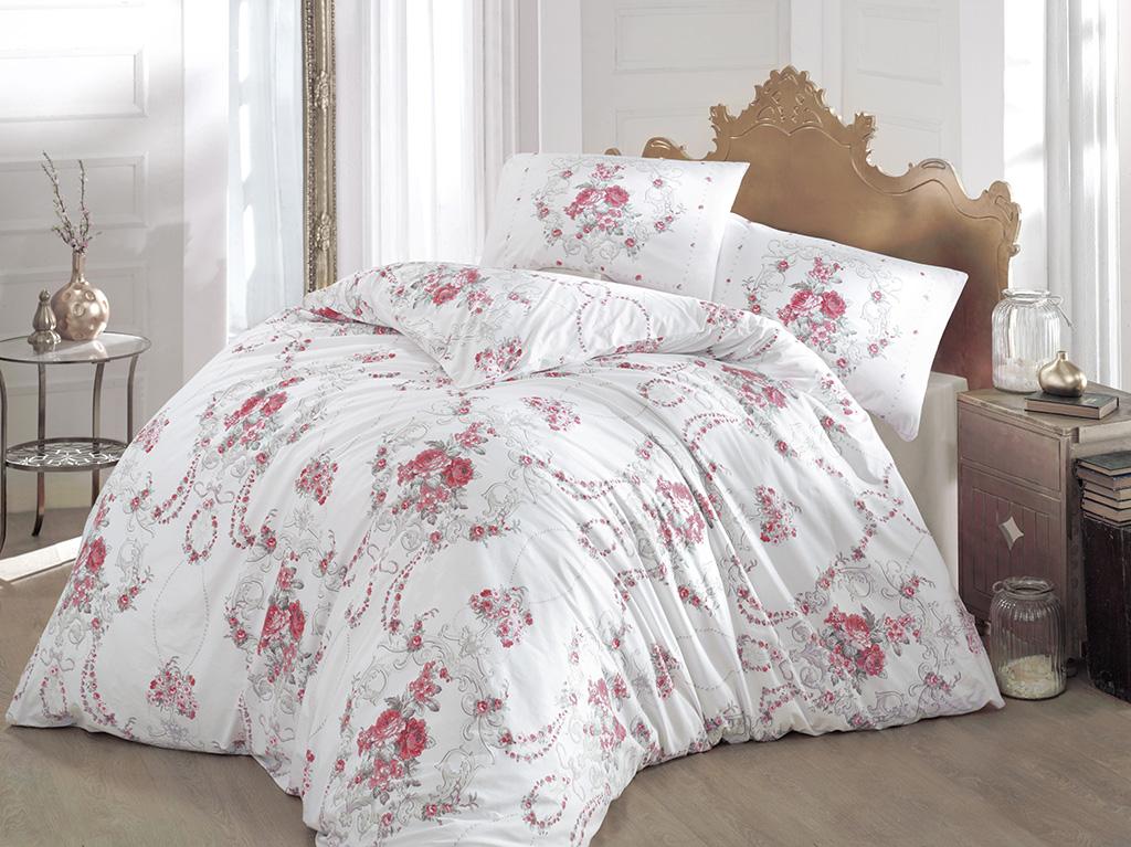 Комплект белья Altinbasak Admire, 2-спальный, наволочки 50х70, цвет: бордовый297/CHAR002