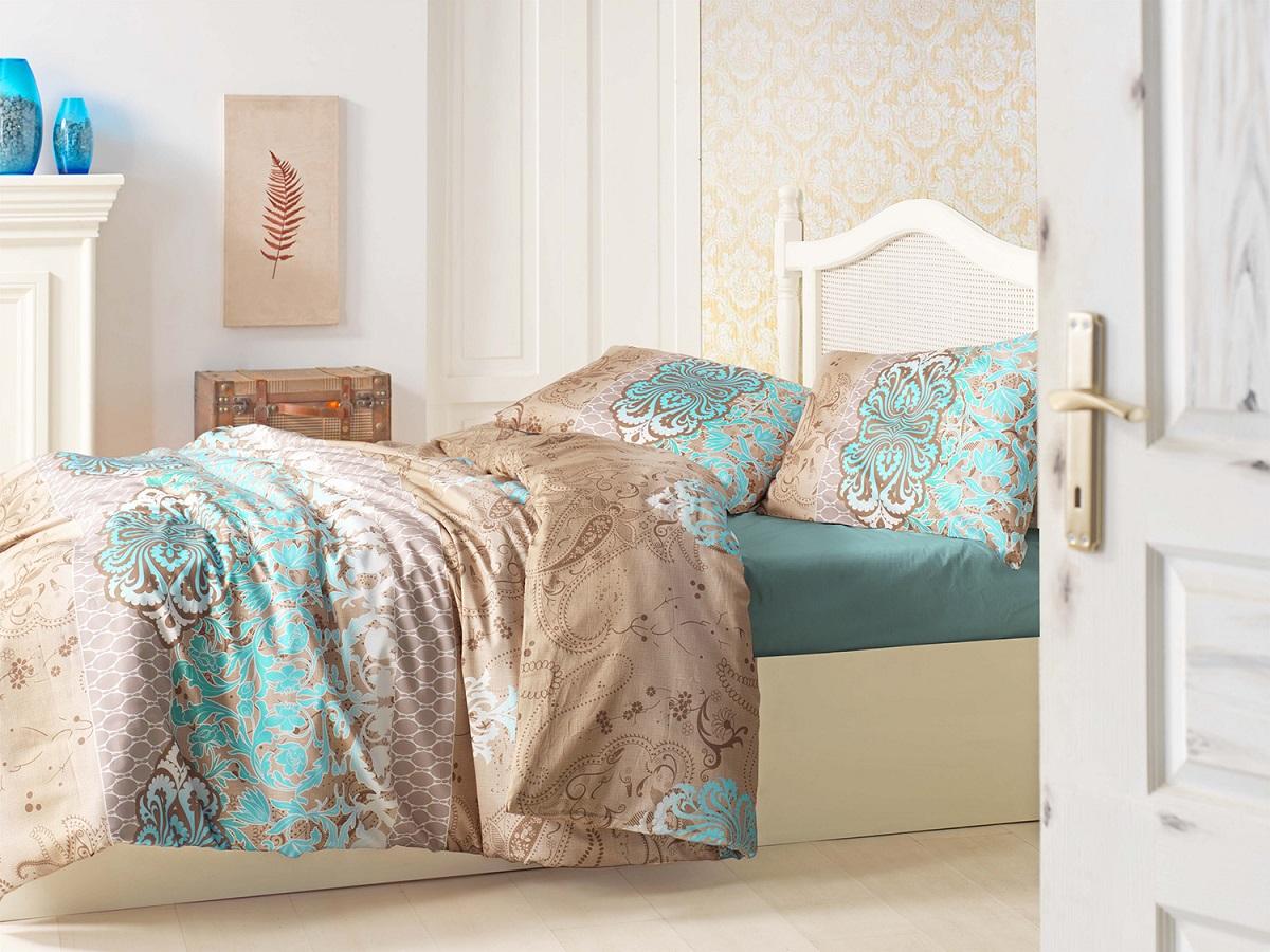Комплект белья Altinbasak Tuana, 1,5-спальный, наволочки 50х70, цвет: коричневый298/1/CHAR001