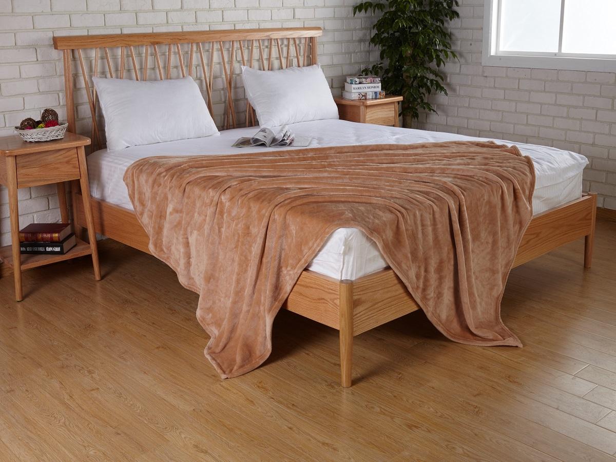 Плед Karna Elza, цвет: коричневый, 160 x 200 см5084/CHAR004