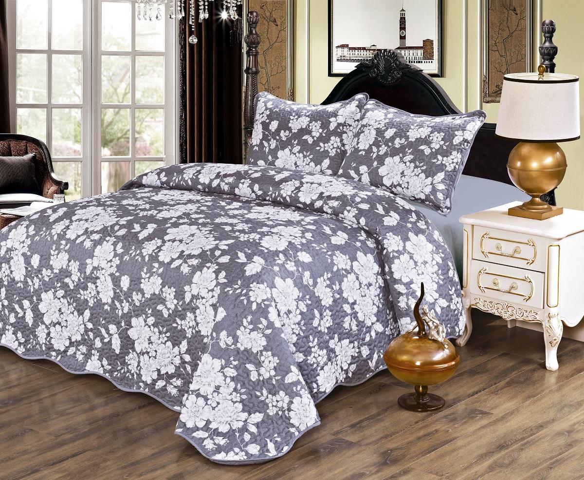 Комплект для спальни Karna Gretal: покрывало 230 х 250 см, 2 наволочки 50 х 70 см, цвет: esen6007