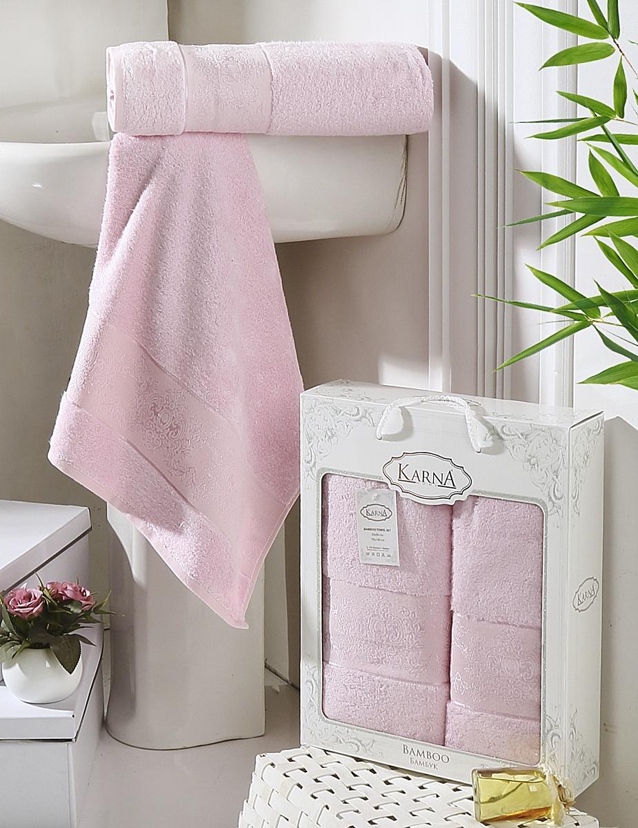 Набор полотенец Karna Pandora, цвет: светло-розовый, 2 шт2197/CHAR014