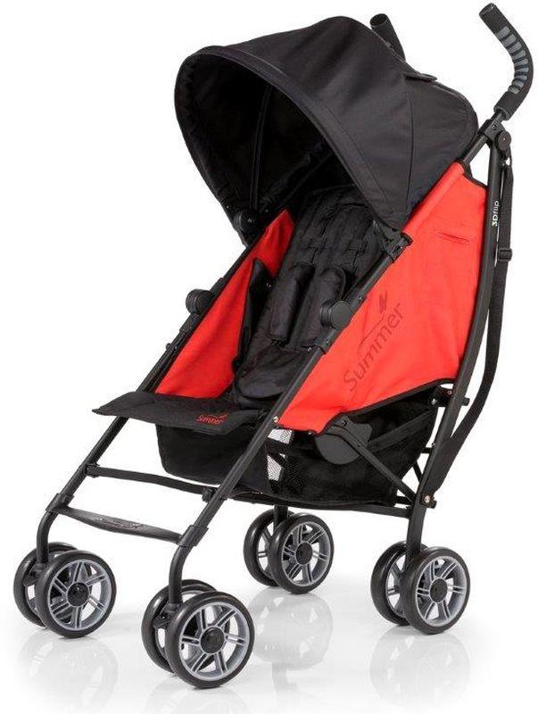 Summer Infant Коляска прогулочная 3D Flip цвет черный красный
