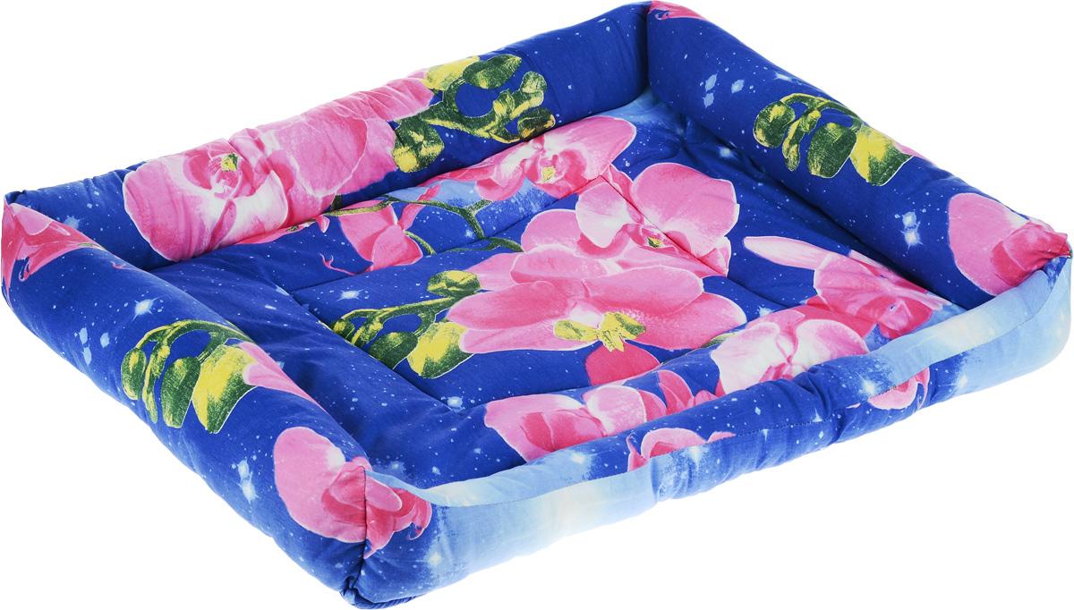 Лежак для животных Elite Valley Пуфик, цвет: синий, розовый, зеленый, 90 х 70 х 18 см. Л-4/5Л4/5 Лежак Пуфик _ орхидея на синем, материал бязь, холофайберМягкий и уютный лежак Elite Valley Пуфик обязательно понравится вашему питомцу. Он выполнен из высококачественной бязи, а наполнитель - холлофайбер. Такой материал не теряет своей формы долгое время. Борта и встроенный матрас обеспечат вашему любимцу уют. Мягкий лежак станет излюбленным местом вашего питомца, подарит ему спокойный и комфортный сон, а также убережет вашу мебель от шерсти.