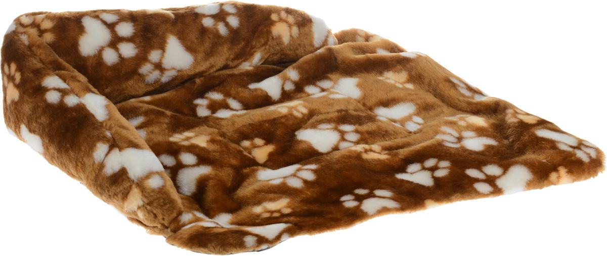 Лежак для животных Elite Valley Софа, цвет: светло-коричневый, бежевый, белый, 56 х 44 х 13 см. Л-6/3Л-6/3_светло-коричневый, лапки бежевые и белыеЛежак для животных Elite Valley Софа изготовлен из искусственного меха и нетканого материала, наполнитель - холлофайбер. Он станет излюбленным местом вашего питомца, подарит ему спокойный и комфортный сон, а также убережет вашу мебель от шерсти. На таком лежаке вашему любимцу будет мягко и тепло.
