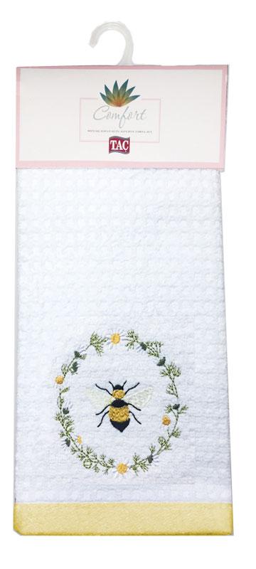 Набор кухонных полотенец TAC Daisy Bee, 40 x 60 см, 2 шт2999k-89686Практичные полотенца для кухни на каждый день.