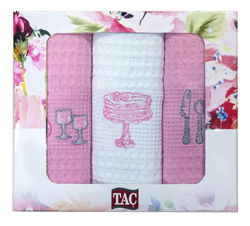 Набор кухонных полотенец TAC Праздник, 40 x 60 см, 3 шт2999n-89694Практичные полотенца для кухни на каждый день.