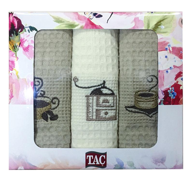 Набор кухонных полотенец TAC Кофе, 40 x 60 см, 3 шт2999n-89698Практичные полотенца для кухни на каждый день.