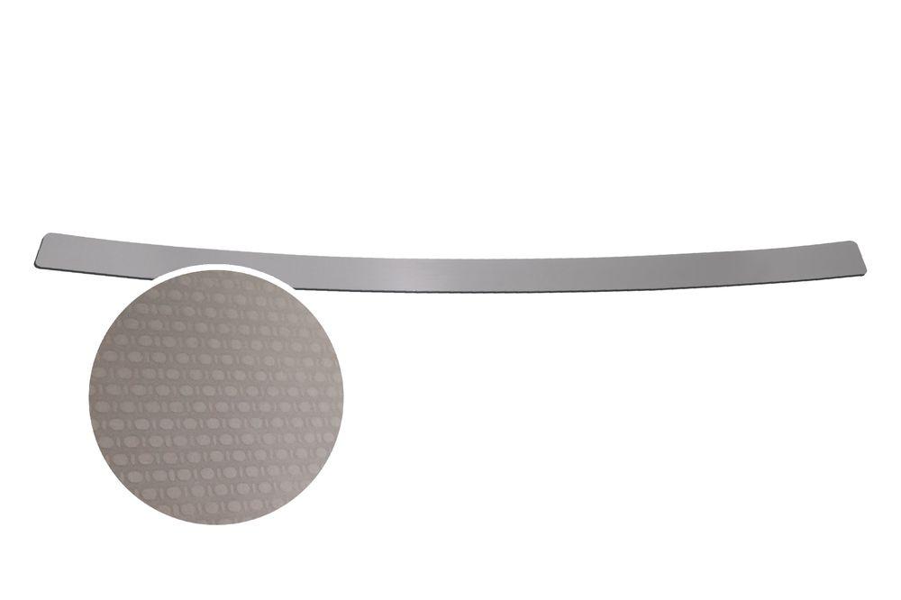 """Накладка на задний бампер Rival для Nissan X-Trail 2015-, 1 штNB.4113.1Накладка на задний бампер RIVAL Накладка на задний бампер защищает лакокрасочное покрытие от механических повреждений и создает индивидуальный внешний вид автомобиля - Использование высококачественной итальянской нержавеющей стали AISI 304. - Надежная фиксация на автомобиле с помощью """"фирменного"""" скотча 3М. - Рельефный рисунок накладки придает автомобилю индивидуальный внешний вид. - Идеально повторяют геометрию бампера автомобиля. Уважаемые клиенты! Обращаем ваше внимание, что накладка имеет форму и комплектацию, соответствующую модели данного автомобиля. Фото служит для визуального восприятия товара."""