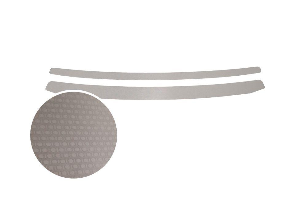 """Накладка на задний бампер Rival для Hyundai Solaris Sedan 2015-, 2 штNB.S.2301.1Накладка на задний бампер RIVAL Накладка на задний бампер защищает лакокрасочное покрытие от механических повреждений и создает индивидуальный внешний вид автомобиля - Использование высококачественной итальянской нержавеющей стали AISI 304. - Надежная фиксация на автомобиле с помощью """"фирменного"""" скотча 3М. - Рельефный рисунок накладки придает автомобилю индивидуальный внешний вид. - Идеально повторяют геометрию бампера автомобиля. Уважаемые клиенты! Обращаем ваше внимание, что накладка имеет форму и комплектацию, соответствующую модели данного автомобиля. Фото служит для визуального восприятия товара."""