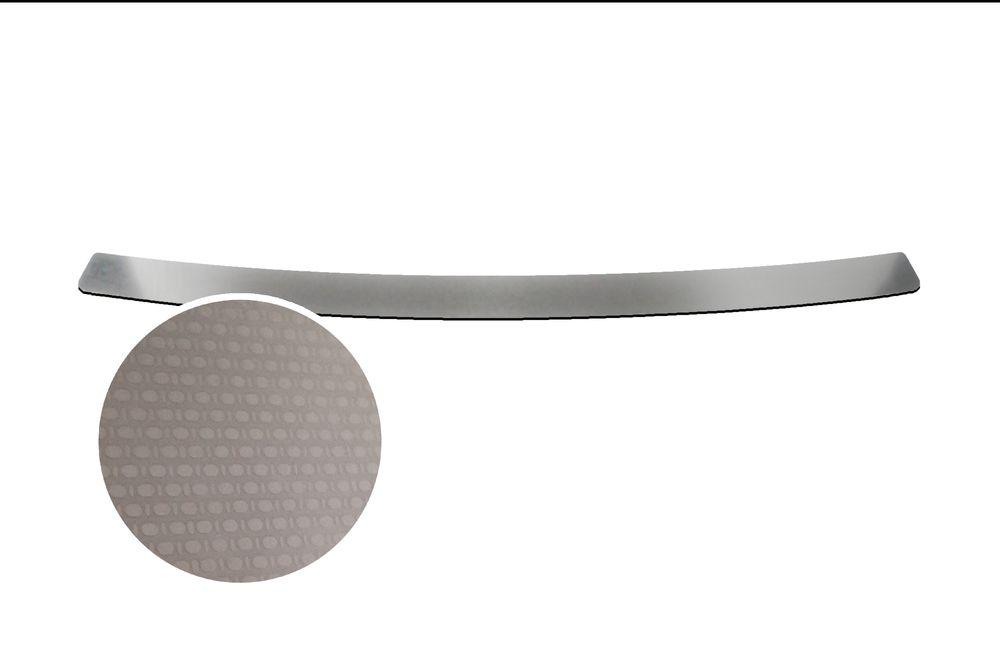 """Накладка на задний бампер Rival для Kia Rio Sedan 2013-, 1 штNB.S.2801.1Накладка на задний бампер RIVAL Накладка на задний бампер защищает лакокрасочное покрытие от механических повреждений и создает индивидуальный внешний вид автомобиля - Использование высококачественной итальянской нержавеющей стали AISI 304. - Надежная фиксация на автомобиле с помощью """"фирменного"""" скотча 3М. - Рельефный рисунок накладки придает автомобилю индивидуальный внешний вид. - Идеально повторяют геометрию бампера автомобиля. Уважаемые клиенты! Обращаем ваше внимание, что накладка имеет форму и комплектацию, соответствующую модели данного автомобиля. Фото служит для визуального восприятия товара."""