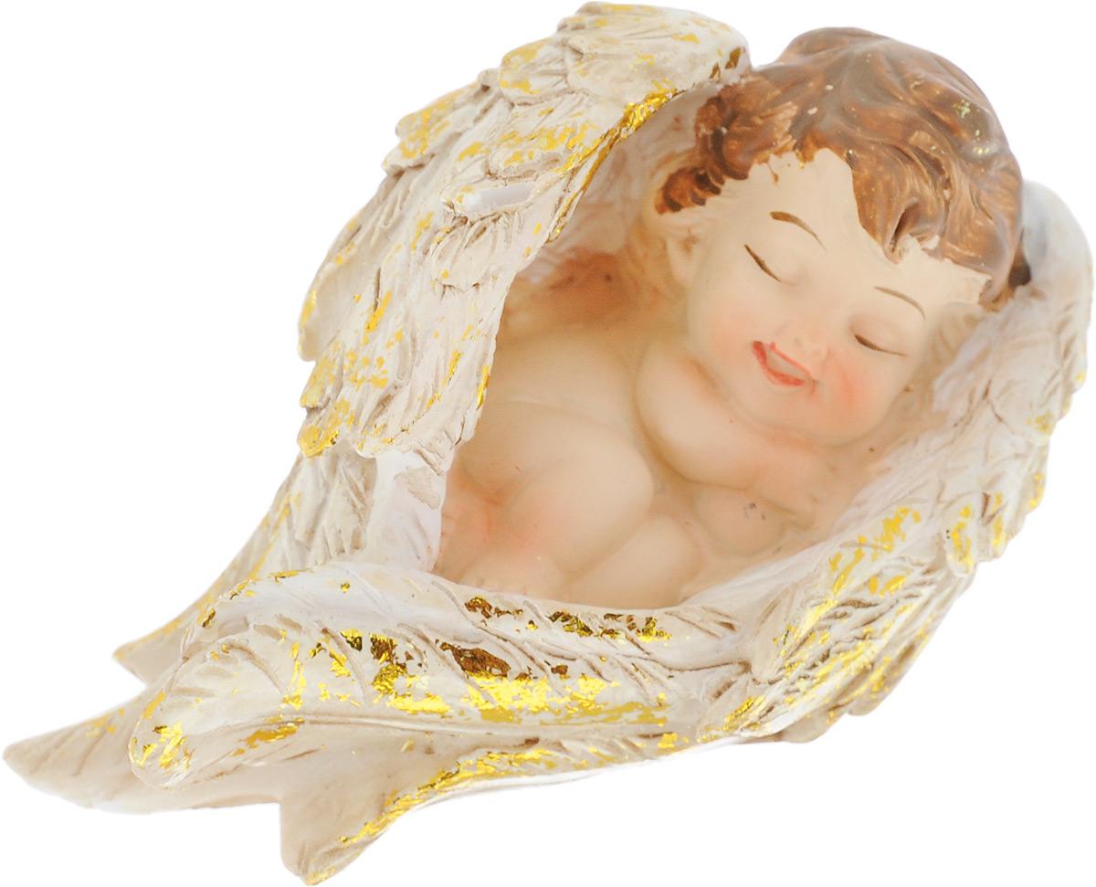 Фигурка декоративная Elan Gallery Спящий ангелочек, высота 4,5 см670132Декоративная фигурка Elan Gallery Спящий ангелочек, изготовленная из полистоуна, станет необычным аксессуаром для вашего интерьера. Изделие непременно вызовет улыбку и поднимет настроение. Эта очаровательная вещь станет отличным подарком вашим друзьям и близким. Размер фигурки: 4,5 х 7,5 х 4,5 см.