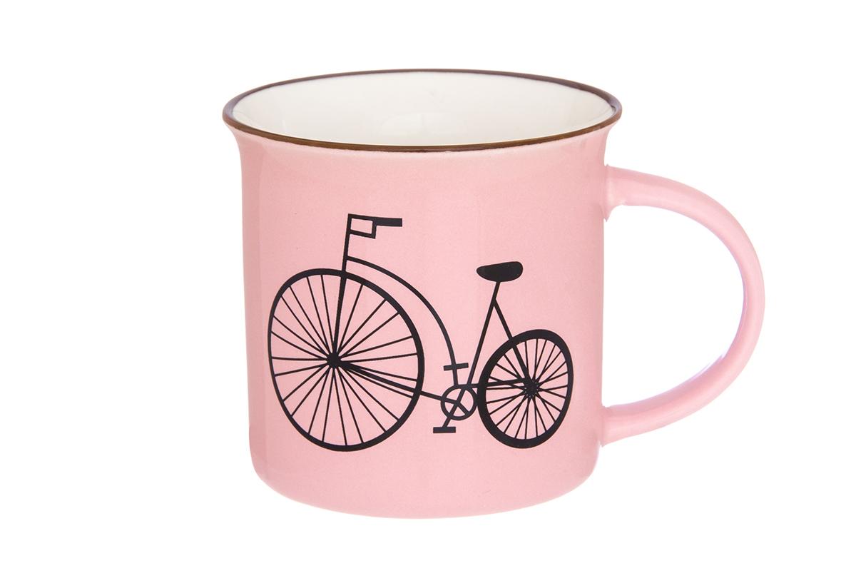 Кружка Elan Gallery Велосипед, цвет: розовый, 210 мл130002Фарфоровая кружка классической формы объемом 210 мл с удобной ручкой. Подходят для любых горячих и холодных напитков, чая, кофе, какао.