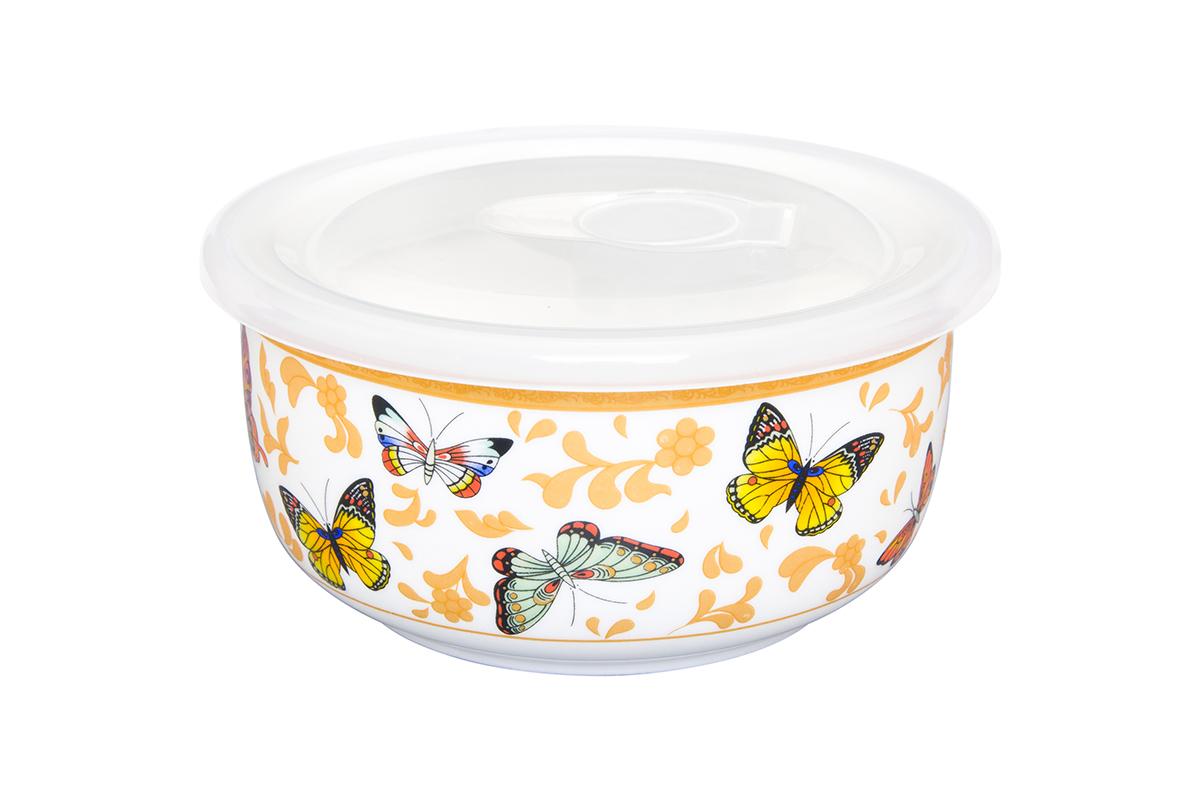 Салатник Elan Gallery Бабочки, с крышкой, 560 мл181017Салатник прекрасно подойдет для приготовления и хранения салатов. Украсит любой стол и любую кухню, а пластиковая крышка сохранит свежесть Вашего блюда, предохранит от заветривания. Изделие имеет подарочную упаковку, поэтому станет желанным подарком для Ваших близких!