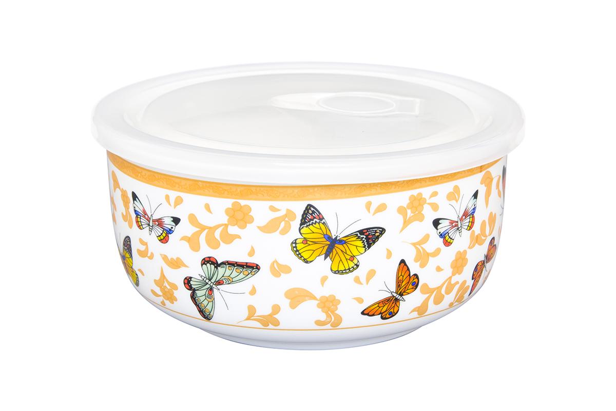 Салатник Elan Gallery Бабочки, с крышкой, 910 мл181023Салатник прекрасно подойдет для приготовления и хранения салатов. Украсит любой стол и любую кухню, а пластиковая крышка сохранит свежесть Вашего блюда, предохранит от заветривания. Изделие имеет подарочную упаковку, поэтому станет желанным подарком для Ваших близких!