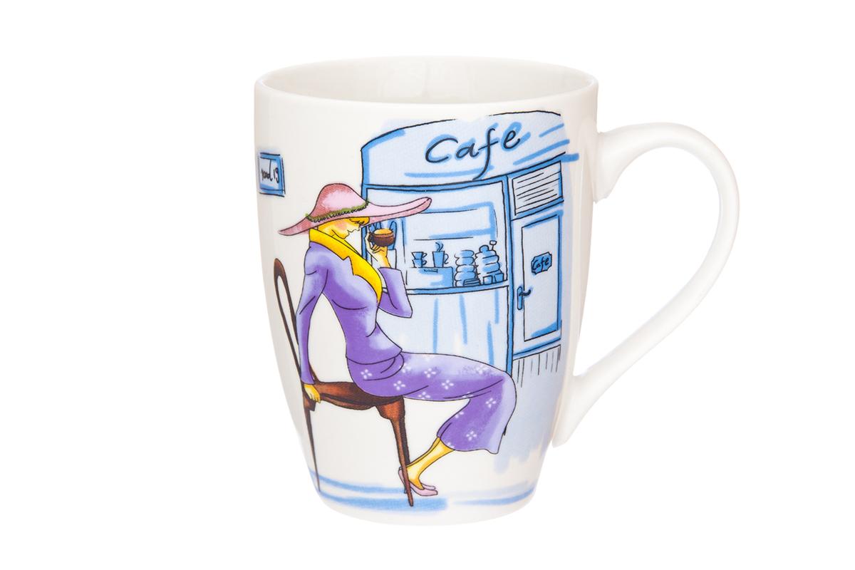 Кружка Elan Gallery Модница, цвет: фиолетовый, 370 мл230020Кружка классической формы объемом 370 мл с удобной ручкой. Подходят для любых горячих и холодных напитков, чая, кофе, какао. Изделие имеет подарочную упаковку, поэтому станет желанным подарком для Ваших близких! Не рекомендуется применять абразивные моющие средства.