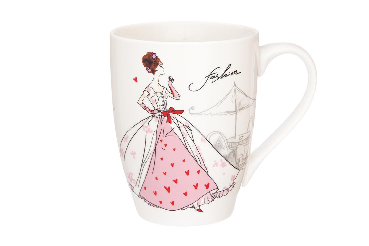 Кружка Elan Gallery Мода ретро, цвет: розовый, 370 мл230024Кружка классической формы объемом 370 мл с удобной ручкой. Подходят для любых горячих и холодных напитков, чая, кофе, какао. Изделие имеет подарочную упаковку, поэтому станет желанным подарком для Ваших близких! Не рекомендуется применять абразивные моющие средства.