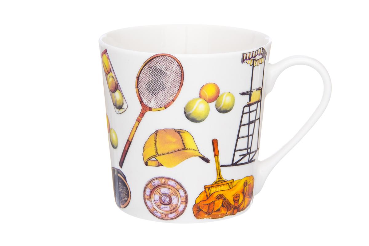 Кружка Elan Gallery Спорт, 400 мл230103Кружка классической формы с удобной ручкой. Подходят для любых горячих и холодных напитков, чая, кофе, какао. Изделие имеет подарочную упаковку, поэтому станет желанным подарком для Ваших близких! Не рекомендуется применять абразивные моющие средства. Объем кружки: 400 мл
