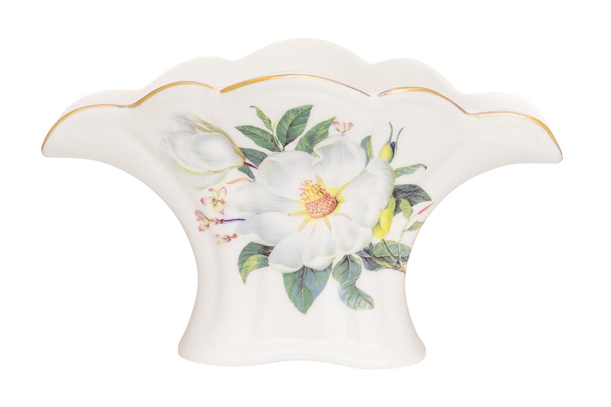 Салфетница Elan Gallery Шиповник, цвет: белый, 16 х 8 х 9,5 см504131Салфетница - это важная деталь праздничной сервировки. Для хозяек, находящих радость в мелочах, так украшающих интерьер.