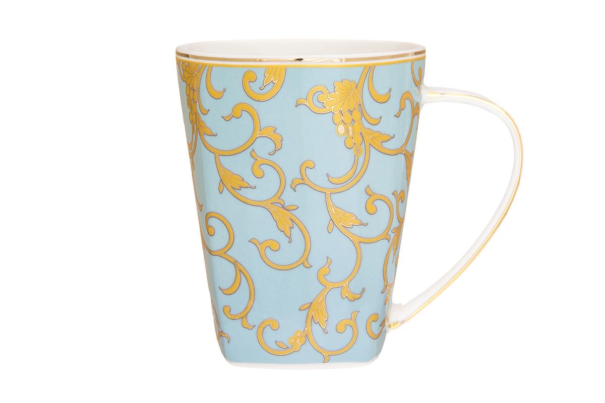 Кружка Elan Gallery Королевский узор, цвет: голубой, 420 мл504136Кружка в подарочной упаковке станет прекрасным подарком и послужит верой и правдой в повседневной жизни. Изделие имеет подарочную упаковку, поэтому станет желанным подарком для Ваших близких!