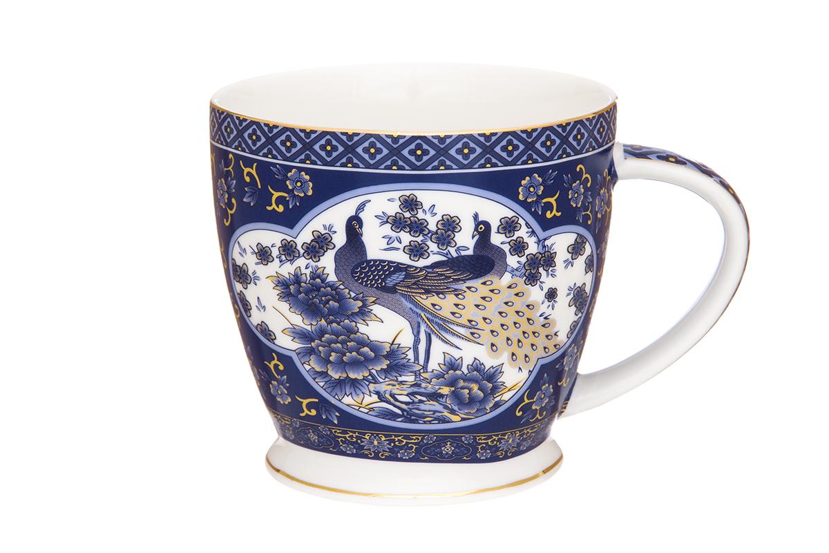 Кружка Elan Gallery Павлин, цвет: синий, 420 мл730380Кружка объемом 420 мл в подарочной упаковке станет прекрасным подарком и послужит верой и правдой в повседневной жизни. Соберите всю коллекцию предметов сервировки Павлин синий и Ваши гости будут в восторге! Изделие имеет подарочную упаковку, поэтому станет желанным подарком для Ваших близких!