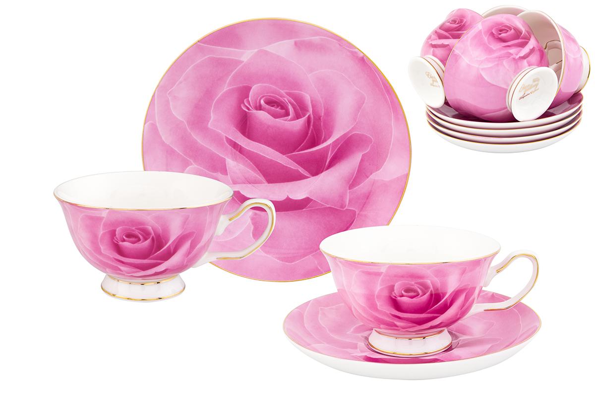 Набор чайный Elan Gallery Роза, 12 предметов730607Чайный набор Elan Gallery Роза состоит из 6 чашек, 6 блюдец, изготовленных из высококачественного фарфора. Предметы набора декорированы изображением цветов. Чайный набор Elan Gallery Роза украсит ваш кухонный стол, а также станет замечательным подарком друзьям и близким. Изделие упаковано в подарочную коробку с атласной подложкой. Не рекомендуется применять абразивные моющие средства. Не использовать в микроволновой печи. Объем чашки: 200 мл. Размер чашек: 12,5 х 10 х 6 см. Размер блюдец: 15 х 15 х 2 см.