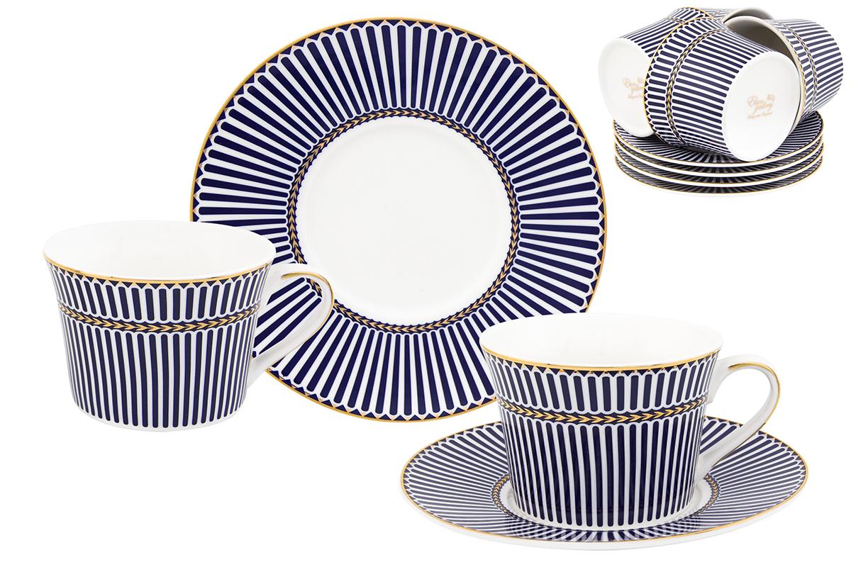 Набор чайный Elan Gallery Полоски, 12 предметов730613Чайный набор Elan Gallery Полоски состоит из 6 чашек, 6 блюдец, изготовленных из высококачественного фарфора. Предметы набора декорированы полосатым изображением. Чайный набор Elan Gallery Полоски украсит ваш кухонный стол, а также станет замечательным подарком друзьям и близким. Изделие упаковано в подарочную коробку с атласной подложкой. Не рекомендуется применять абразивные моющие средства. Не использовать в микроволновой печи. Объем чашки: 200 мл. Размер чашек: 11 х 9 х 6 см. Размер блюдец: 15,5 х 15,5 х 2 см.