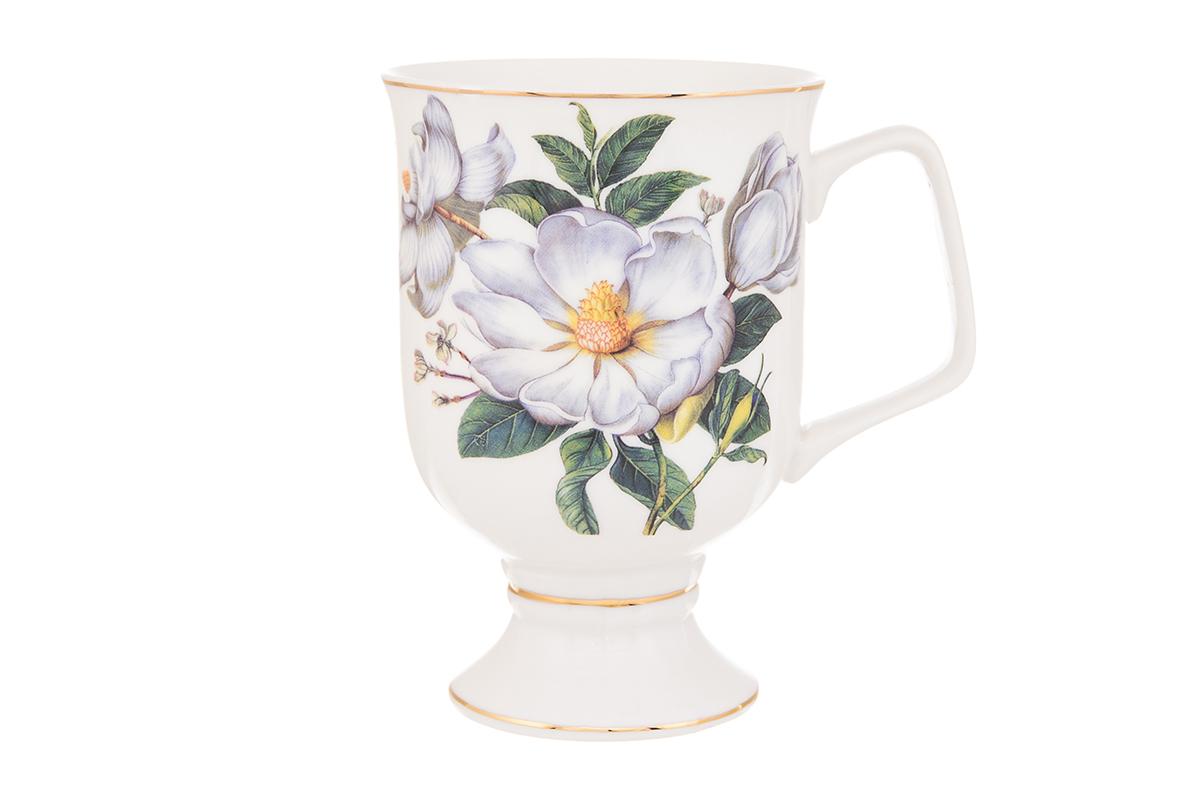 Кружка кофейная Elan Gallery Шиповник, цвет: белый, 380 мл730632Кружка станет отличным дополнением к сервировке семейного стола и замечательным подарком для ваших родных и друзей. Размер 12х8,5х12,5 см. Объем 380 мл.