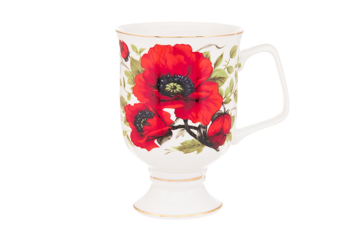 Кружка кофейная Elan Gallery Маки, 380 мл730634Кружка станет отличным дополнением к сервировке семейного стола и замечательным подарком для ваших родных и друзей. Размер 12х8,5х12,5 см. Объем 380 мл.