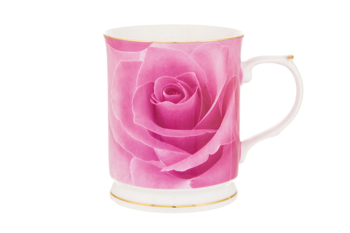Кружка Elan Gallery Роза, цвет: розовый, 400 мл730644Кружка станет отличным дополнением к сервировке семейного стола и замечательным подарком для ваших родных и друзей. Размер 12,5х8,5х10 см. Объем 400 мл.