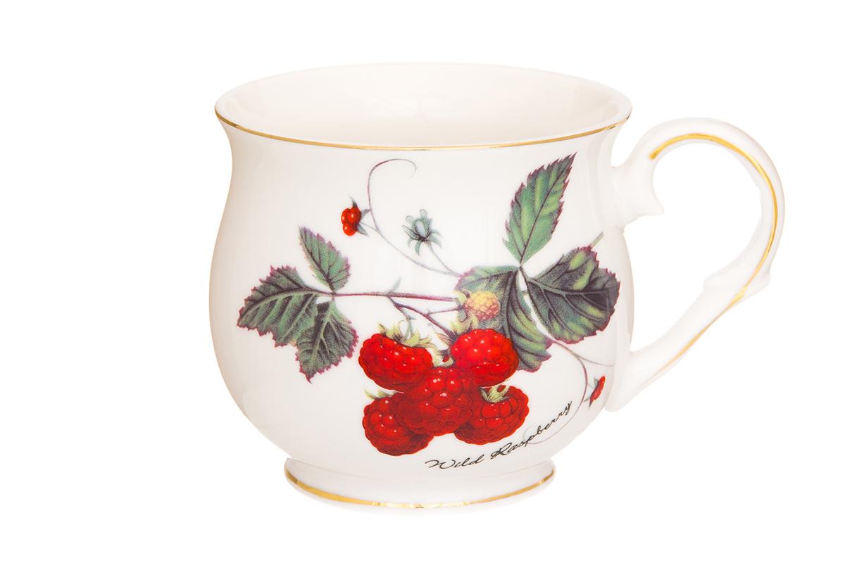 Кружка Elan Gallery Ягода-малина, 480 мл730655Большая кружка выполненная из фарфора, станет оригинальным подарком! Идеальна для тех, кто предпочитает большие кружки и для любителей чая, кофе. Размер 13,5х10х9 см. Объем 480 мл.