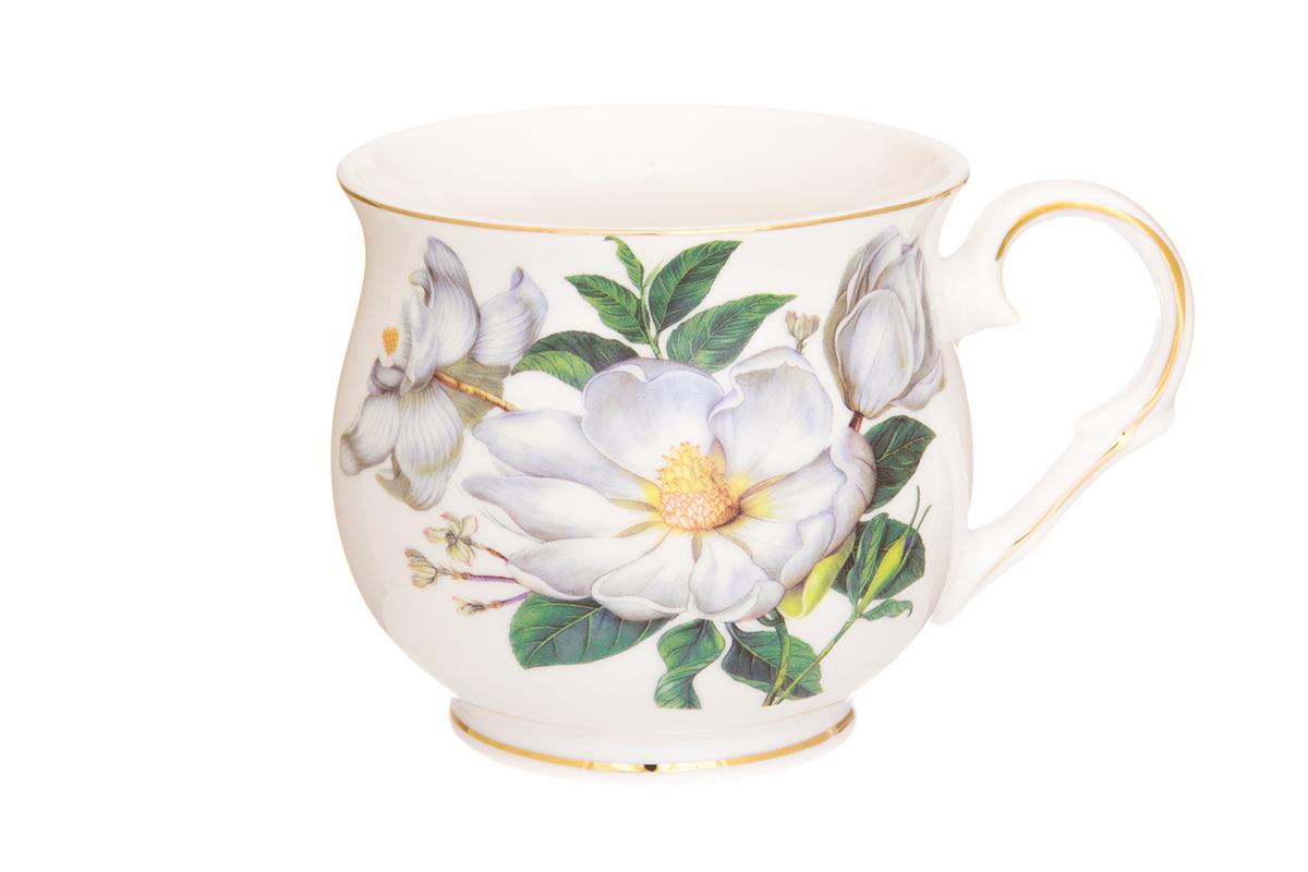 Кружка Elan Gallery Шиповник, цвет: белый, 480 мл730656Большая кружка выполненная из фарфора, станет оригинальным подарком! Идеальна для тех, кто предпочитает большие кружки и для любителей чая, кофе. Размер 13,5х10х9 см. Объем 480 мл.