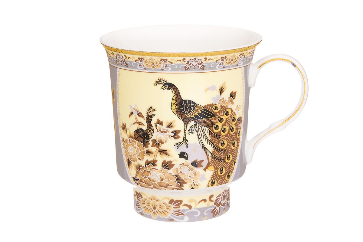 Кружка Elan Gallery Павлин, цвет: бежевый, 630 мл730662Большая кружка выполненная из фарфора, станет оригинальным подарком! Идеальна для тех, кто предпочитает большие кружки и для любителей чая, кофе. Размер 14,5х11х12 см. Объем 630 мл.