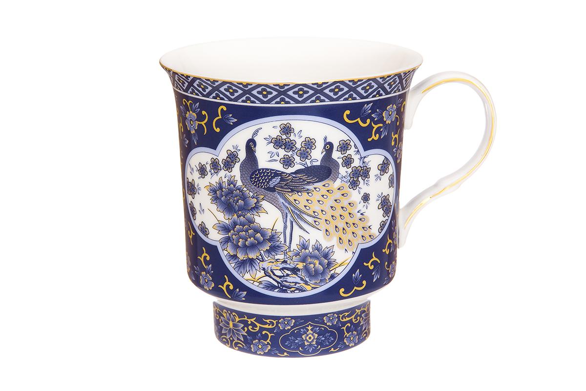 Кружка Elan Gallery Павлин, цвет: синий, 630 мл730663Большая кружка выполненная из фарфора, станет оригинальным подарком! Идеальна для тех, кто предпочитает большие кружки и для любителей чая, кофе. Размер 14,5х11х12 см. Объем 630 мл.