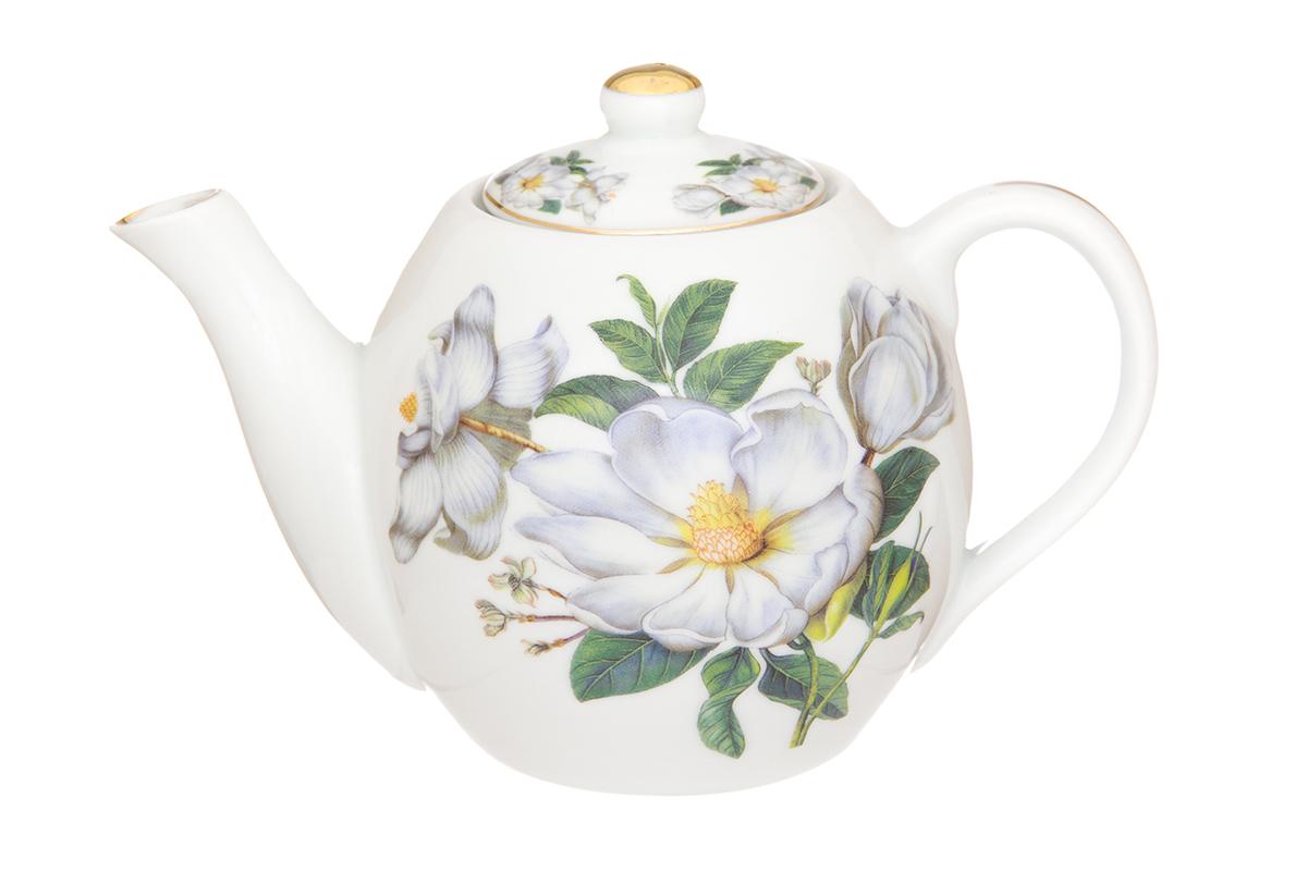 Чайник заварочный Elan Gallery Шиповник, цвет: белый, 500 мл730680