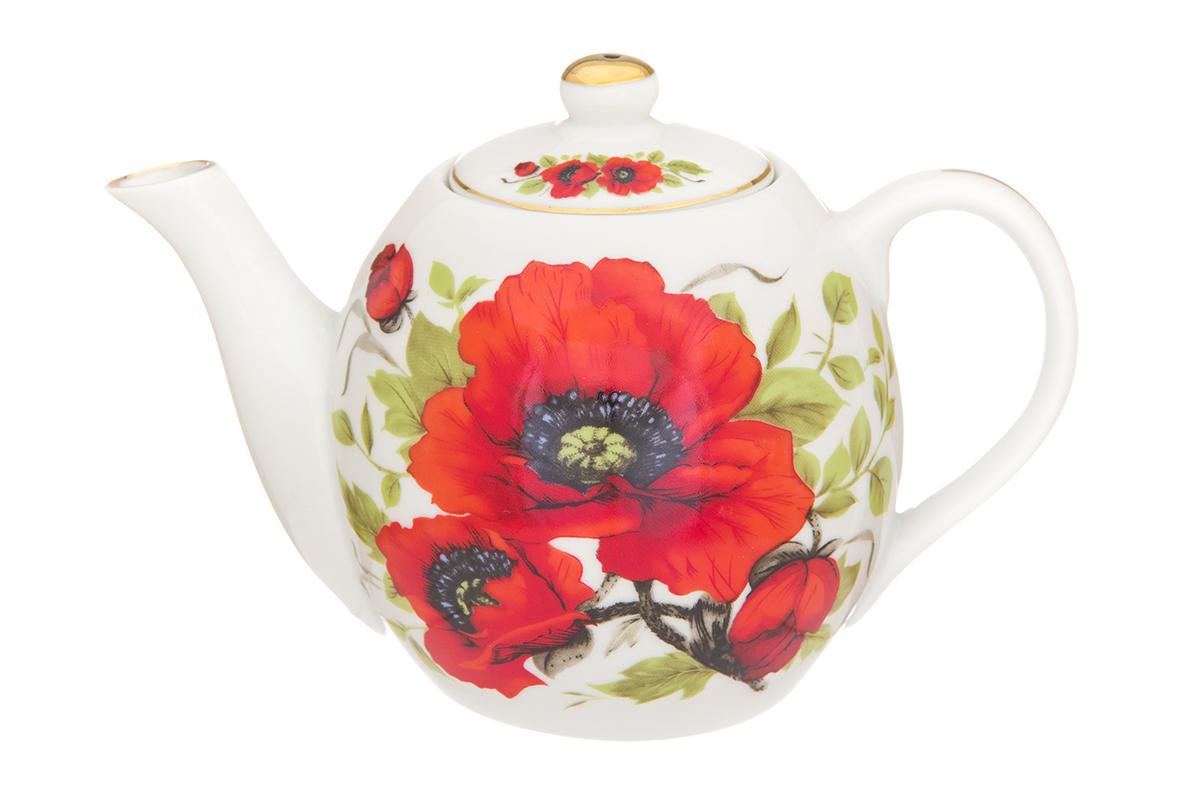 Чайник заварочный Elan Gallery Маки, 500 мл730681Изысканный заварочный чайник украсит сервировку стола к чаепитию. Благодаря красивому утонченному дизайну и качеству исполнения он станет хорошим подарком друзьям и близким. Стиль чайника выверен до мелочей. Все составляющие внимательно подогнаны и замечательно дополняют друг друга. Представленная модель будет хорошим приобретением или подарком любимому. Размер чайника: 17 х 10 х 12 см. Объем чайник: 500 мл.
