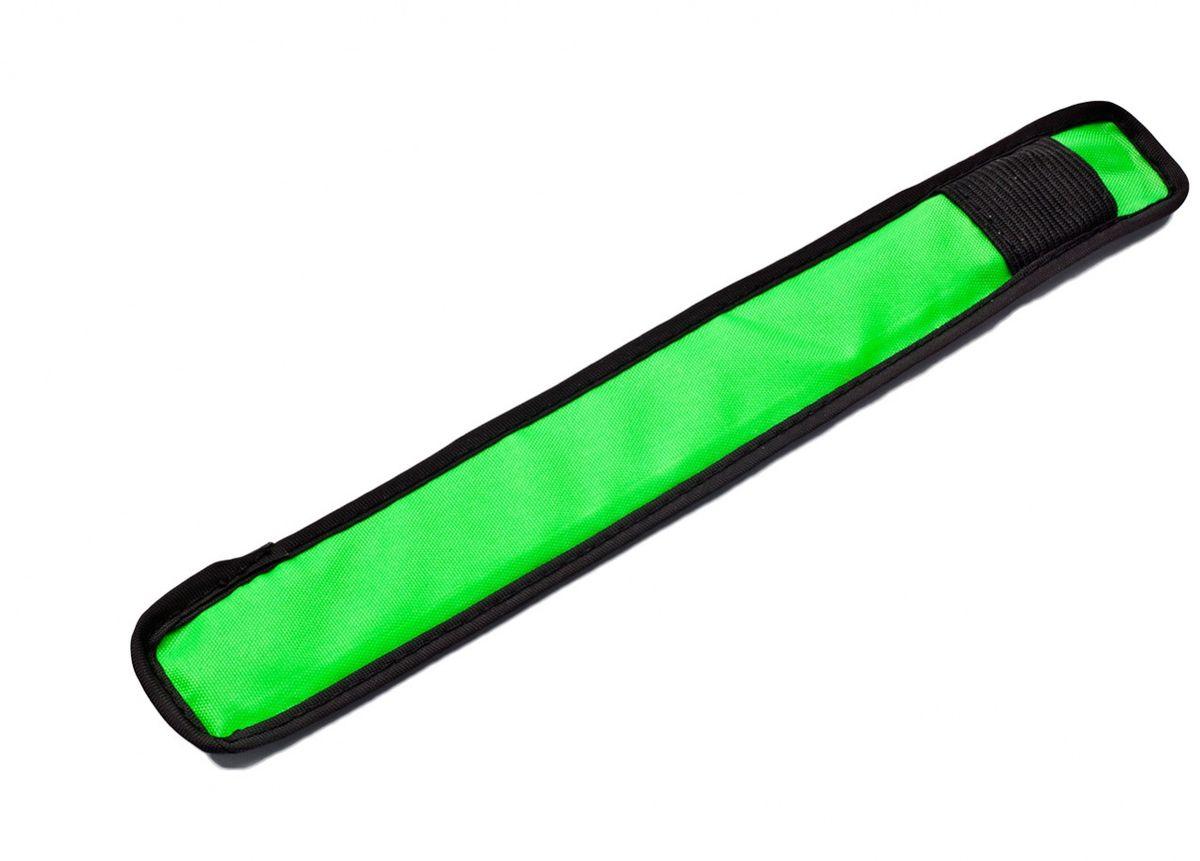 Слэп-лента Bradex, со светодиодной подсветкой, цвет: зеленыйTD 0444Для пешеходов, велосипедистов и роллеров, детей и взрослых, домашних питомцев - слэп-лента со светодиодной подсветкой оповестит водителей авто и других участников движения о вашем присутствии на дороге. Надевайте его для катания на велосипеде или прогулок в темное время суток. Выбирайте подсветку красного, синего или зеленого цвета. материалы:оксфордская ткань, пленочный световод, печатная плата - пластина из диэлектрика, стальной диск Работает светодиод от 1 батарейки CR2016 (в комплекте) размер:24x3.5 см, LED:напряжение: 3V сила: 210mAh ток: 0.2mA