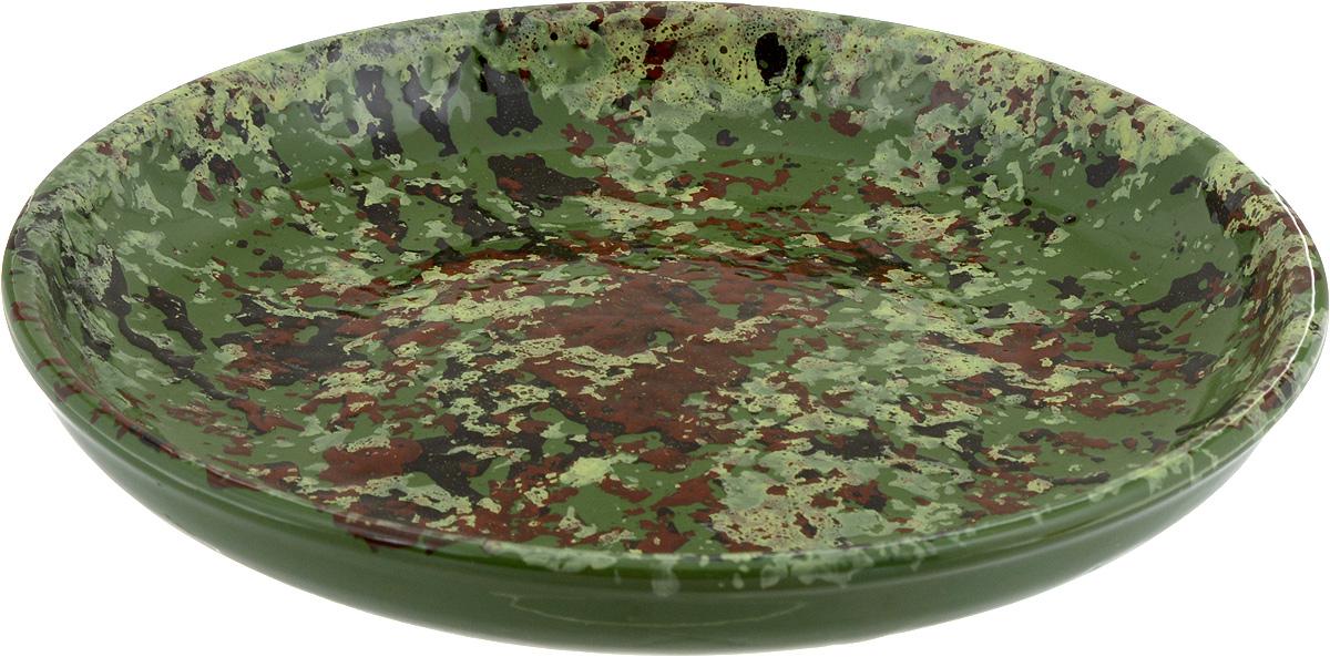 Тарелка Борисовская керамика Радуга, цвет: зеленый, коричневый, диаметр 18 смРАД00000458 _хакиТарелка Борисовская керамика Радуга, изготовленная из керамики, имеет изысканный внешний вид. Лаконичный дизайн придется по вкусу и ценителям классики, и тем, кто предпочитает утонченность. Такая тарелка идеально подойдет для сервировки стола, а также для запекания вторых блюд в духовке. Тарелка Борисовская керамика Радуга впишется в любой интерьер современной кухни и станет отличным подарком для вас и ваших близких.