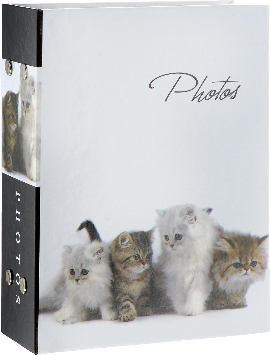 Фотоальбом Platinum Кошки-2, 100 фотографий, 10 х 15 см11828_ 4 котенкаФотоальбом Platinum Кошки-2 поможет красиво оформить ваши самые интересные фотографии. Обложка, выполненная из толстого картона, оформлена изображением котят. Внутри содержатся 2 блока из 50 белых листов с фиксаторами- окошками из полипропилена. Альбом рассчитан на 100 фотографий формата 10 х 15 см. Переплет - книжный. Нам всегда так приятно вспоминать о самых счастливых моментах жизни, запечатленных на фотографиях. Поэтому фотоальбом является универсальным подарком к любому празднику. Количество листов: 50 шт.