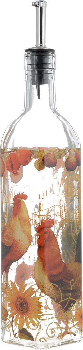 Бутылка для масла и уксуса SinoGlass Солнечный день, 500 млSI-8041F50-ALБутылка для масла или уксуса SinoGlass Солнечный день, выполненная из стекла, украсит любую кухню. Металлическая крышка с носиком снабжена клапаном антикапля, не допускающим пролива. Стенки бутылки прозрачные, поэтому вы с легкостью можете видеть содержимое. Оригинальная бутылка будет отлично смотреться на вашей кухне. Высота бутылки (с учетом носика): 31 см. Размер основания: 5,5 х 5,5 см.
