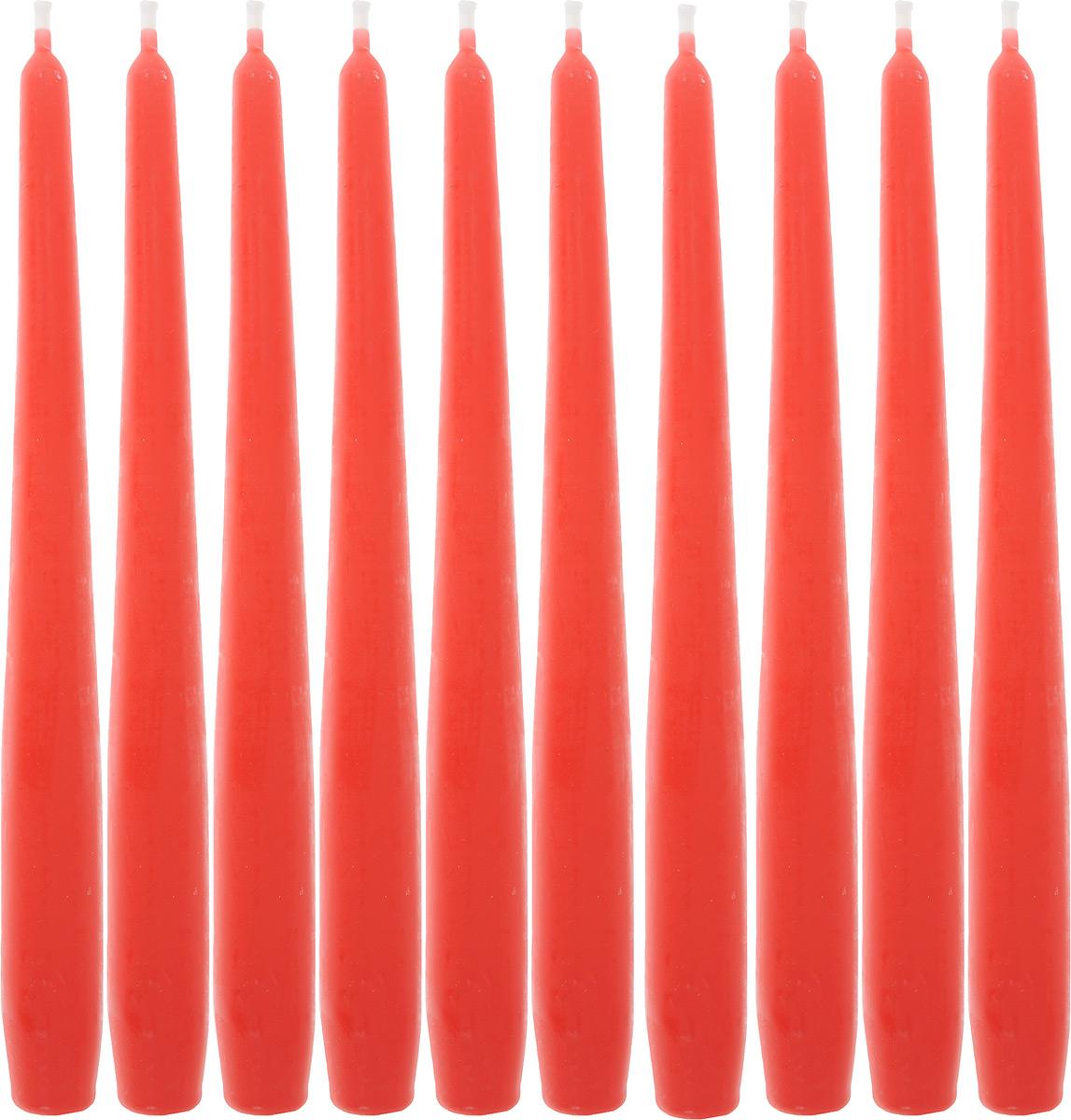 Набор свечей Омский cвечной завод, цвет: красный, высота 24 см, 10 шт331119/001918Набор Омский cвечной завод состоит из 10 свечей, изготовленных из парафина и хлопчатобумажной нити. Такие свечи создадут атмосферу таинственности и загадочности и наполнят ваш дом волшебством и ощущением праздника. Хороший сувенир для друзей и близких. Примерное время горения: 7 часов. Высота: 24 см. Диаметр: 2 см.