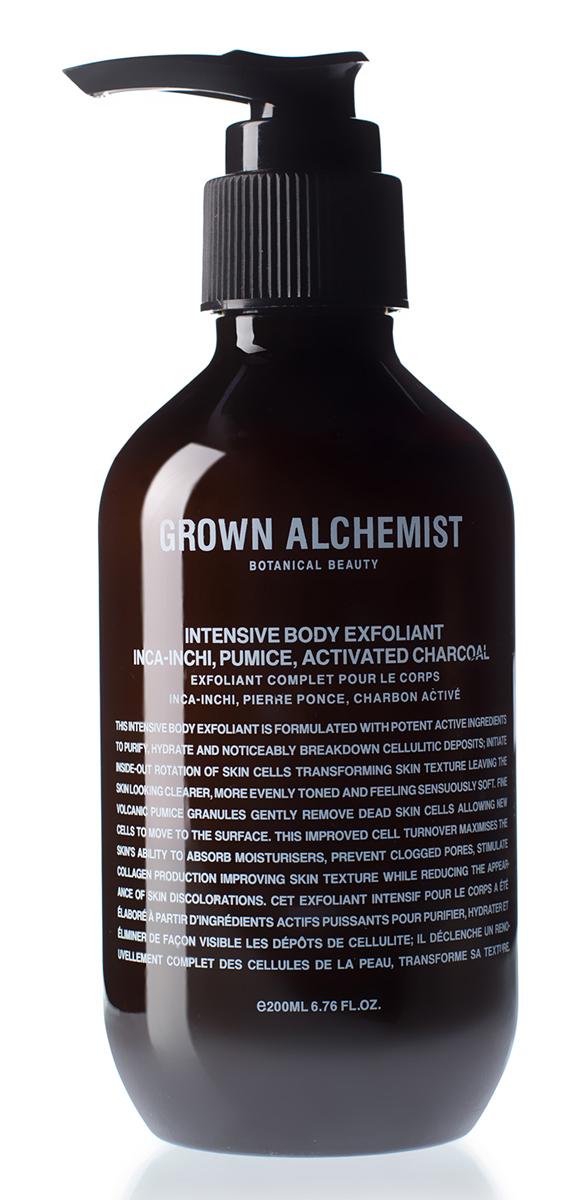 Grown Alchemist Интенсивный эксфолиант для тела 200 млGRA0184Интенсивный эксфолиант для тела содержит высокоактивные компоненты, позволяющие очистить и увлажнить кожу, а также способствующие борьбе с целлюлитом: они стимулирует ротацию клеток кожи, изменяя ее текстуру. Кожа дольше выглядит сияющей, обретает ровный тон, а также становится невероятно мягкой на ощупь.