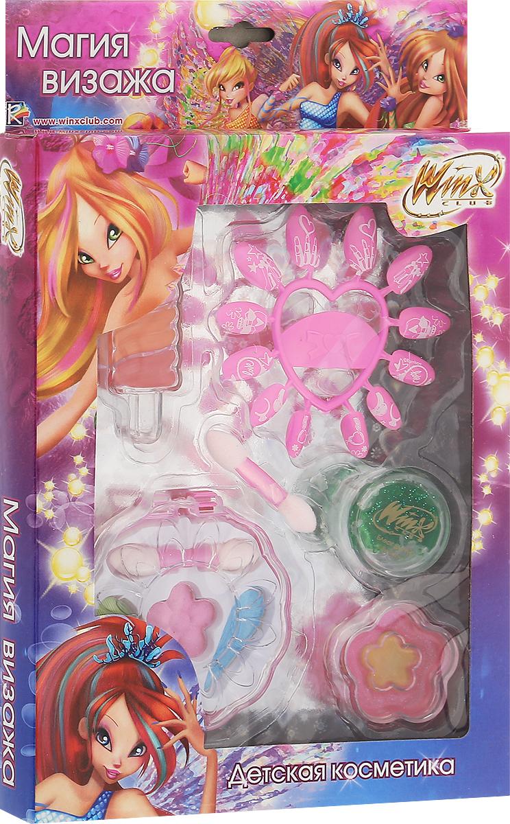 Winx Club Набор детской декоративной косметики Магия визажаWNX1507-005Набор детской косметики Winx Club Магия визажа (тени, блеск, накладные ногти, аксессуары) изготовлен под лицензией известного мультсериала и включает всё необходимое для создания яркого образа. Красочное, фирменное оформление упаковки, любимые персонажи, качество и безопасность для ребёнка - всё это делает лицензионную продукцию привлекательной и популярной среди покупателей всех возрастов. Рекомендуемый возраст от 3 лет. Не рекомендуется детям до 3-х лет. Уважаемые клиенты! Обращаем ваше внимание, что полный перечень состава представлен на дополнительном изображении.