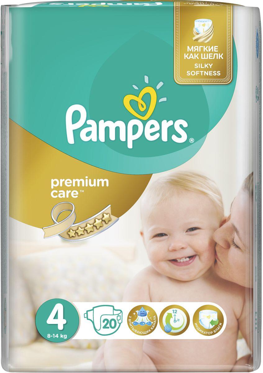 Pampers Подгузники Premium Care 8-14 кг (размер 4) 20 шт PA-81531152